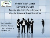Mobile Internet Best Practices
