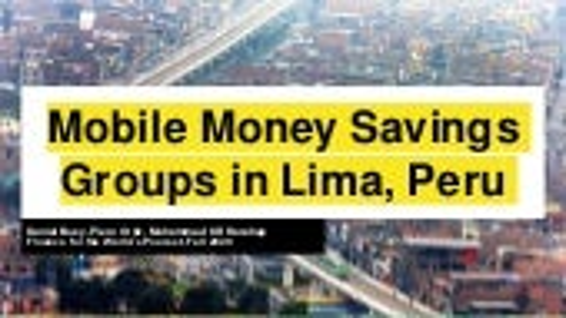 Mobile money savings groups