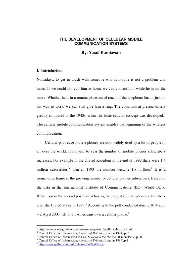 essay on mobile communication essay on mobile communication the development of cellular mobile communication system