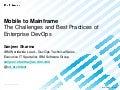 Mobile to Mainframe - the Challenges of Enterprise DevOps Adoption