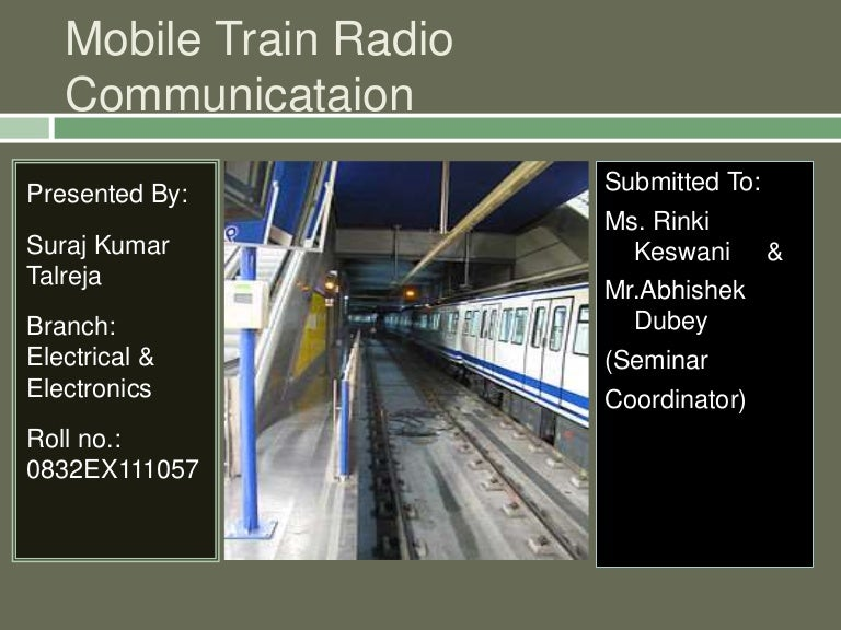 Communication for railways ppt video online download.