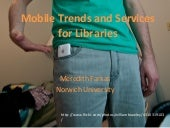 Mobile Trends and Services for Libraries