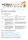 High Profile vs Low Profile Apps: Trends in app development (Graham Brown mobileYouth) DOWNLOAD