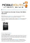 (mobileYouth) Top 5 Insights from the Book: Mobile Youth - Voices of the Mobile Generation