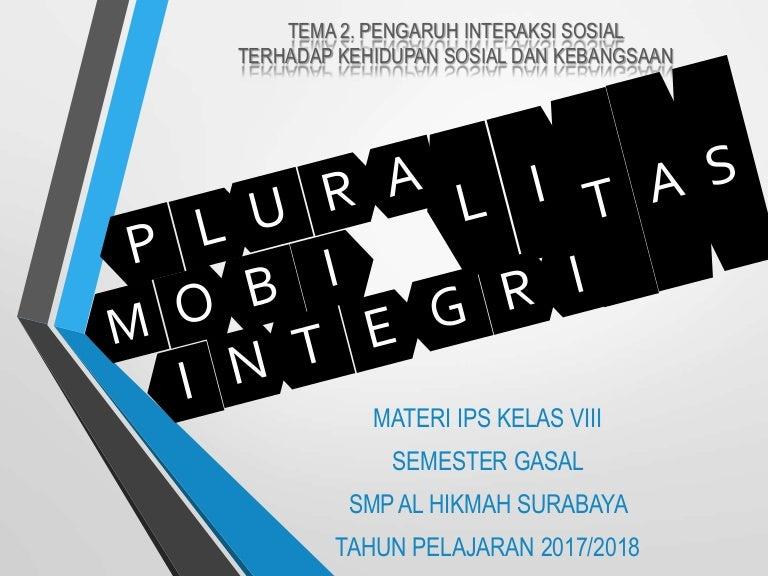 Mobilitas Sosial Pluralitas Dan Konflik