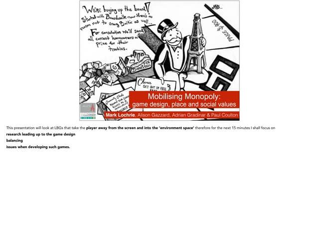 Mobilsing Monopoly