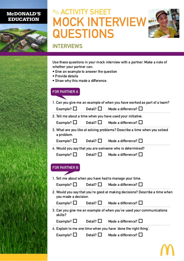 mock interview questions