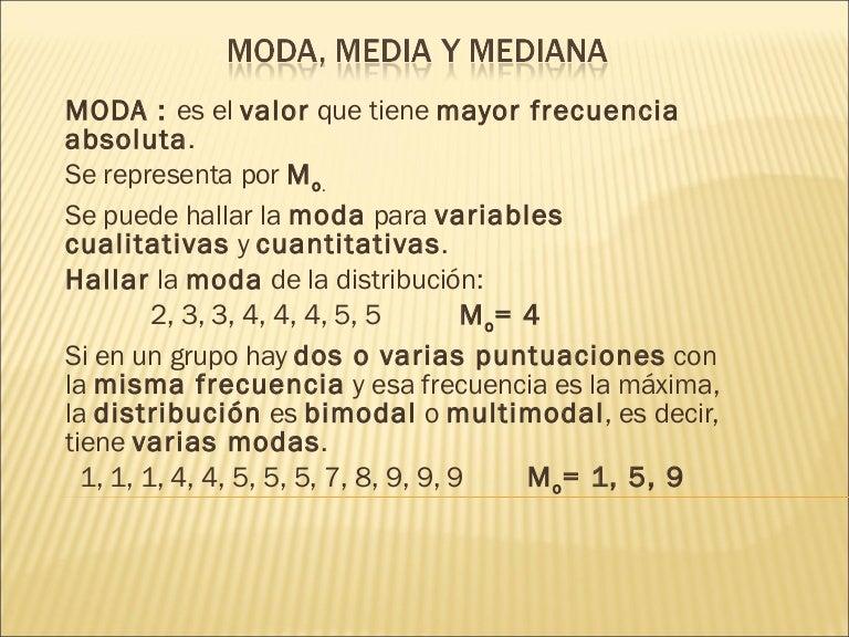 Moda Media Y Mediana