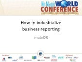 ModelDR: how to industrialise business reporting