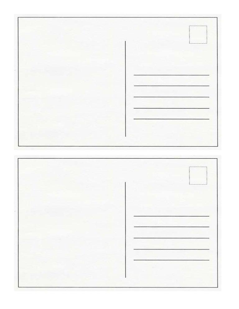 Modele carte postale