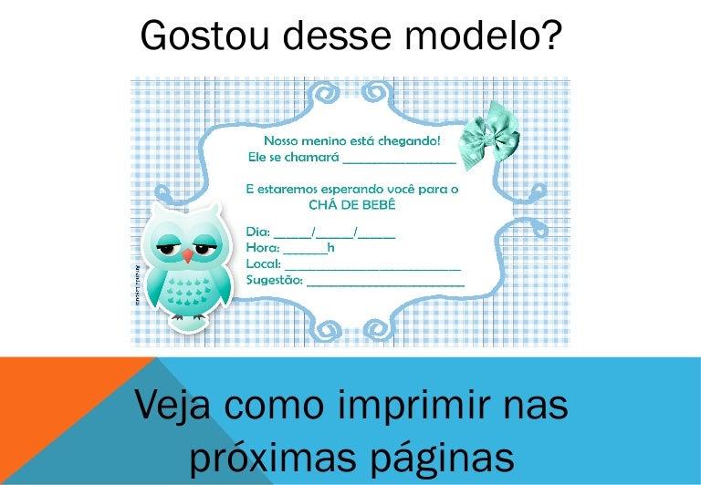 Convite Para Cha De Bebe Menino Azul 2