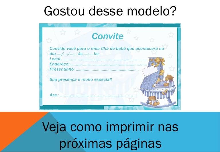 Convite Para Cha De Bebe Menino Azul 3