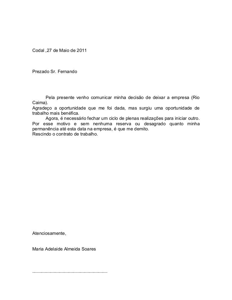 CARTA DE DEMISSAO PDF DOWNLOAD