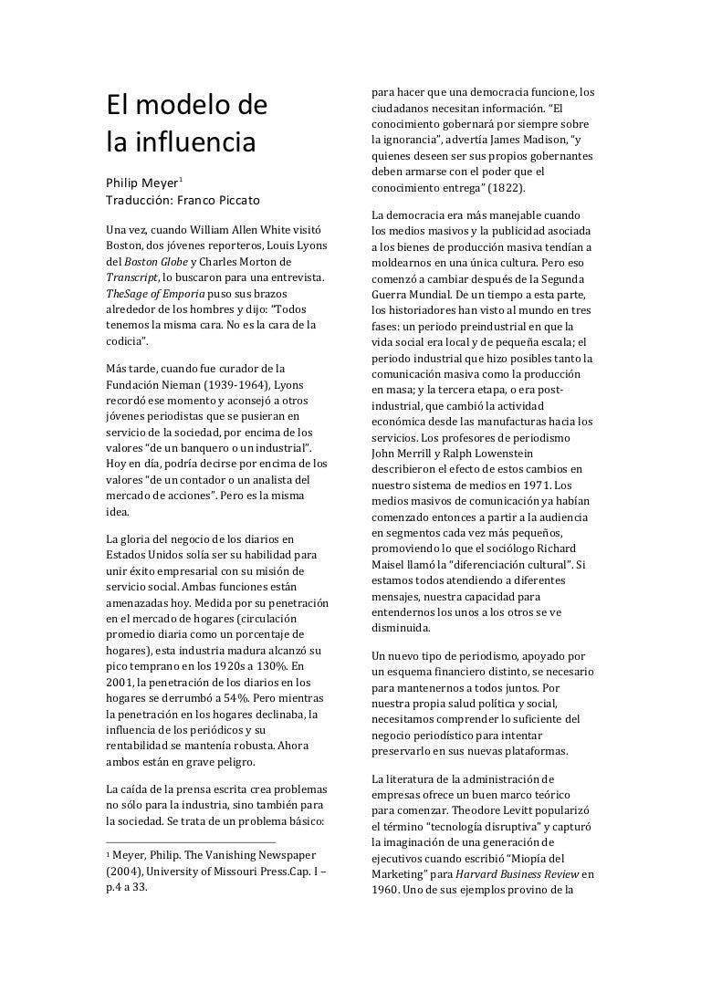 El modelo de la influencia - Philip Meyer