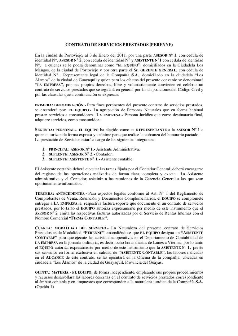 Increíble Plantilla De Propuesta De Contrato De Servicio Galería ...