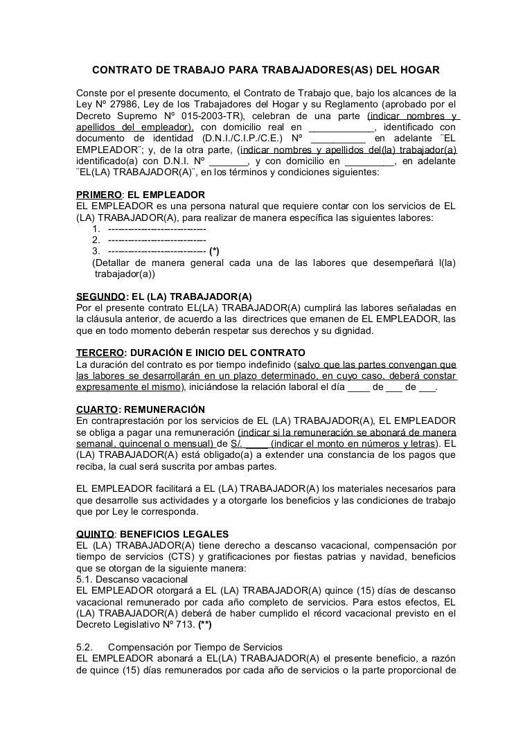Modelo contrato th for Modelo contrato empleada de hogar 2016