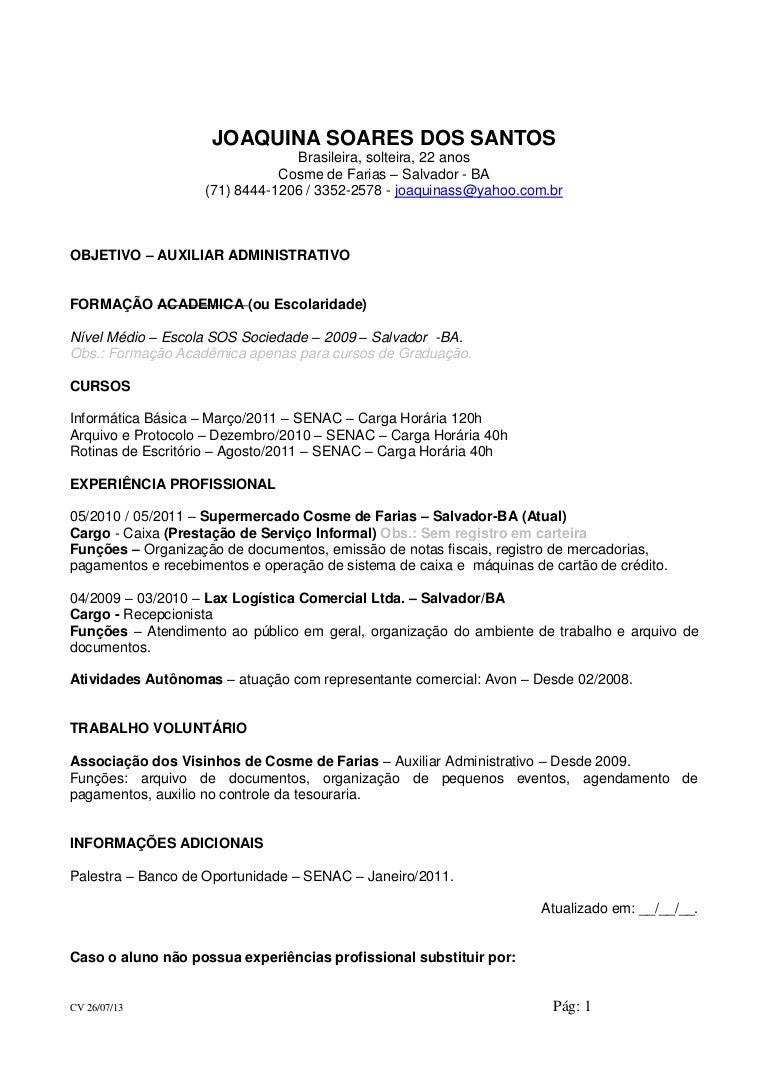 Contemporáneo Currículum De Muestra Para Trabajo De Asistente ...