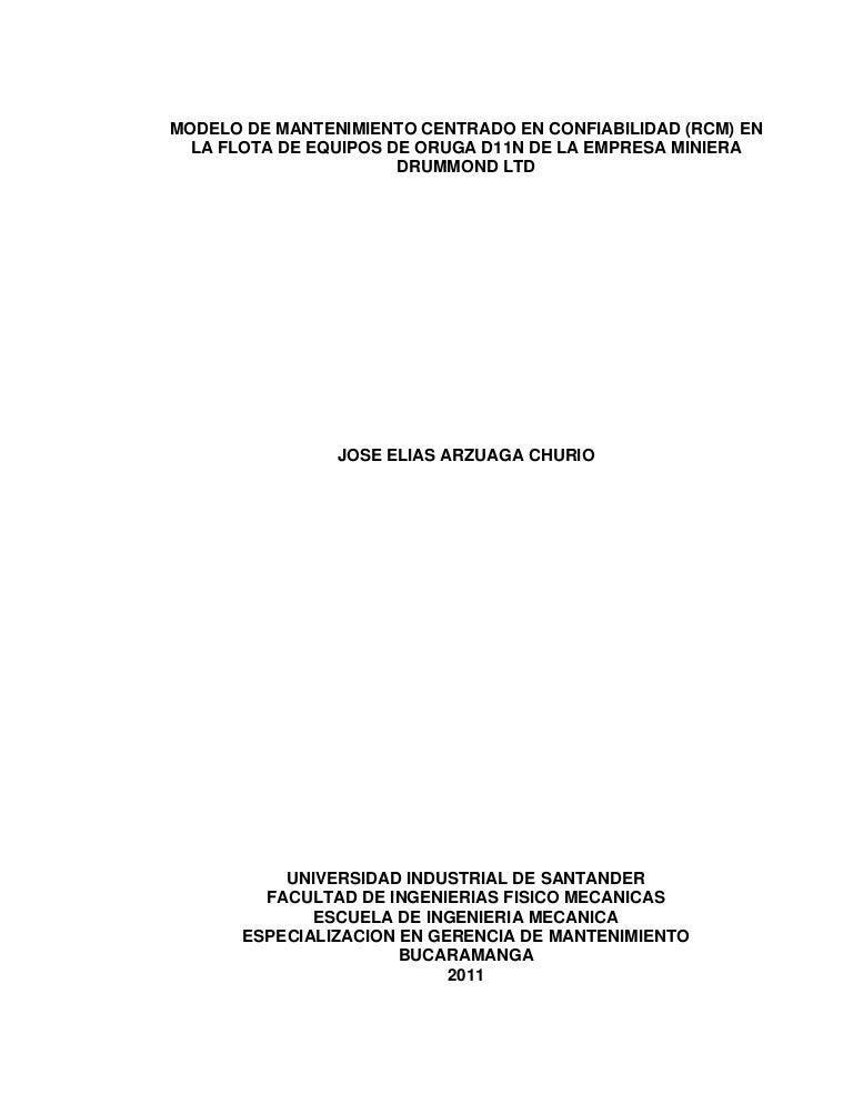 Modelo de mantenimiento basado en la confiabilidad en la flota de tra…