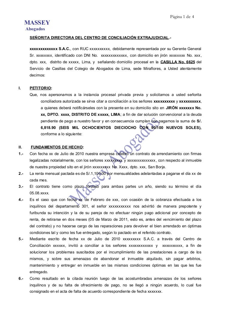 Modelo De Carta Notarial De Desalojo De Vivienda Quotes