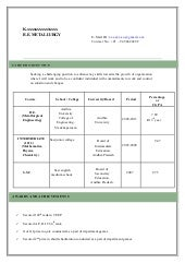model of a resume