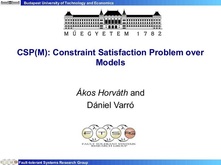 Cps M Constraint Satisfaction Problem Over Models A K A Rule Based