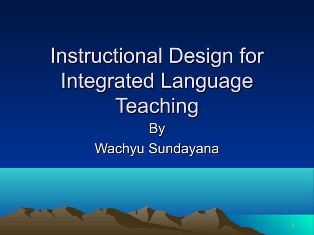 Models of english teaching wahyu s-upi