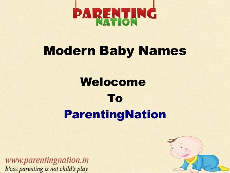 Modern Baby Names With Meanings