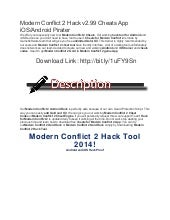 Modern conflict 2 hack v2.99 cheats app ios android pirater
