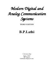 Modern digital and analog communication systems 4th edition.