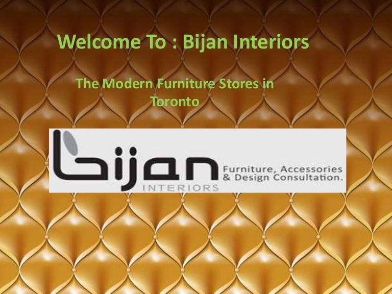 the modern furniture stores bijan interiors - Uptown Modern Furniture Toronto