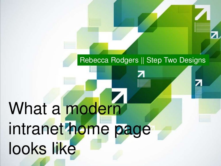 what a modern intranet home page looks like - Intranet Design Ideas