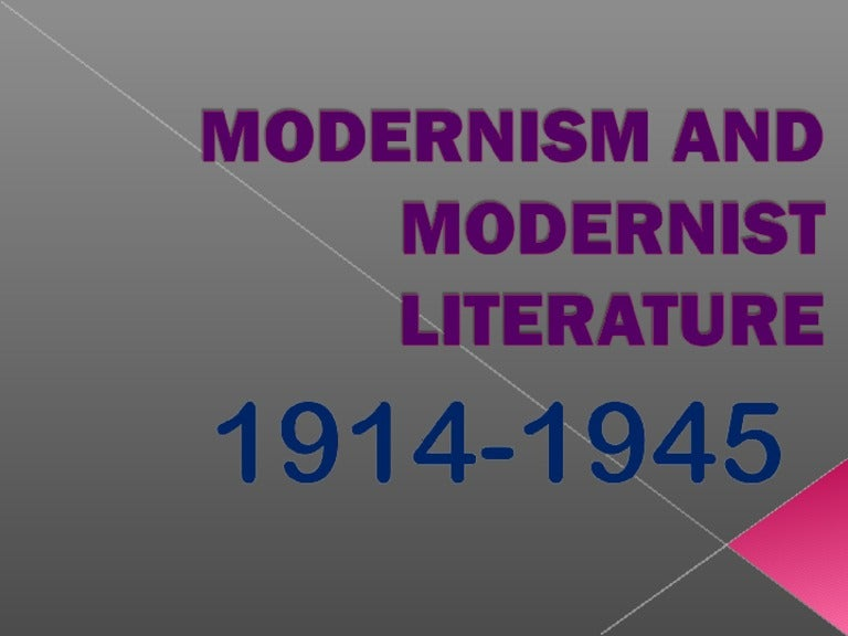 joseph conrad modernism