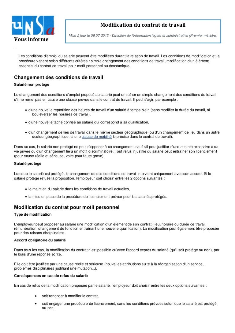 modificationducontratdetravail