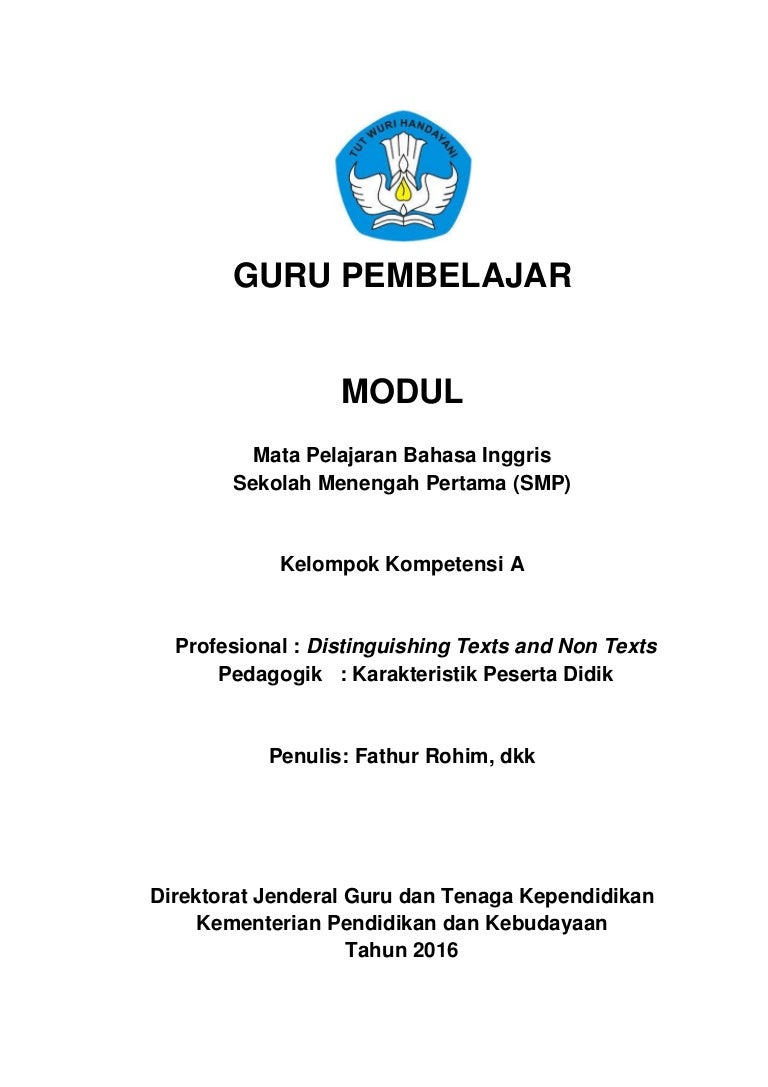 Modul Inggris Kka Kompetensi Profesional Distinguishing Texts And No