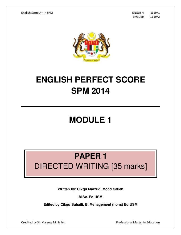 Modul perfect-score-–-spm-2014-english