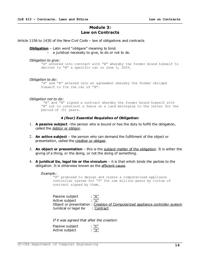 Module  Law Of Contracts