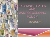Module 44 exchange rates and macroeconomic policy