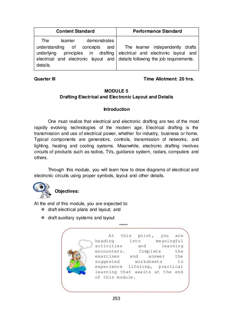 Module 5 3 Draft Electrical And Electronic Layout Details Parallel Dc Circuits Electronics Worksheet