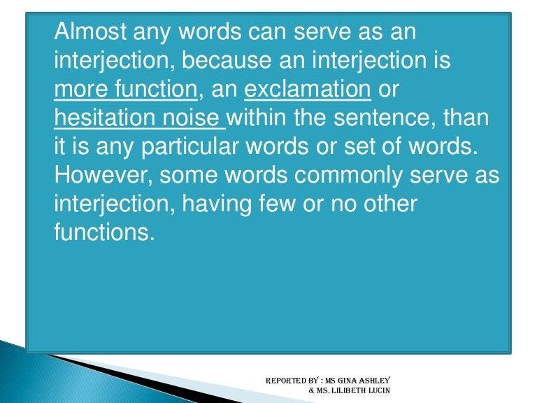 Module 8 Interjection