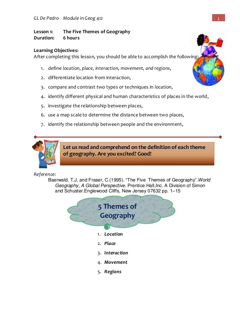 Module in Geog 412:Geography and NAtural Resources of the Phils