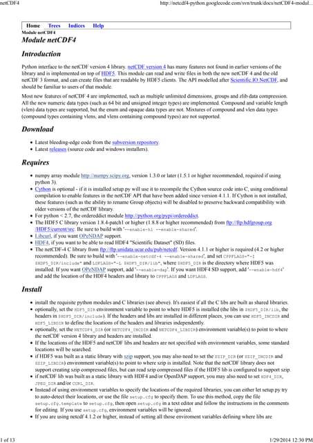 Module net cdf4