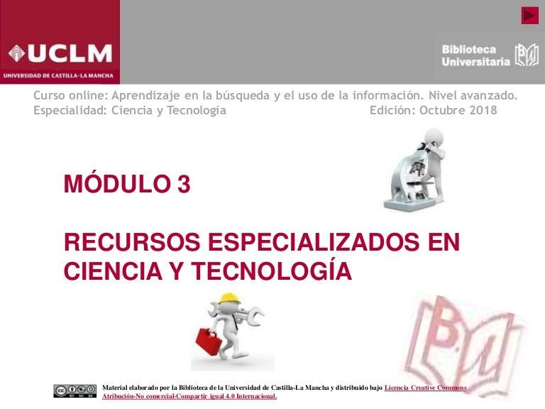 Modulo 3 Recursos Especializados En Ciencia Y Tecnología