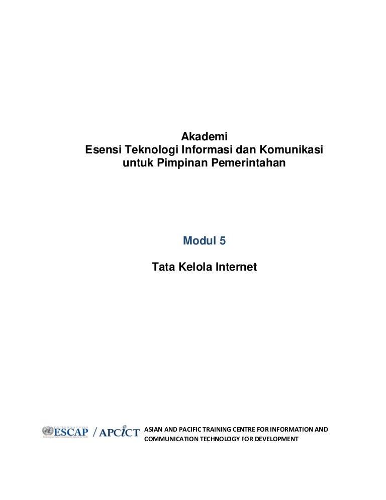 Modul Tata Kelola Internet Apcict