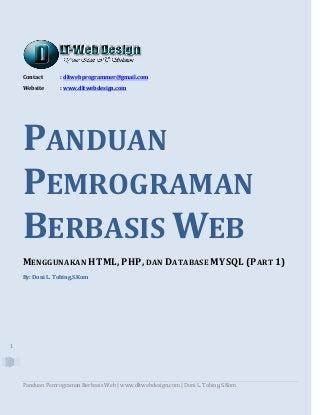 Panduan Pemrograman Berbasis Web dengan HTML, PHP, dan Database MySQL