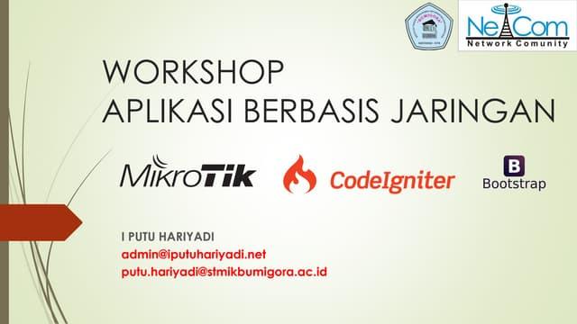 Modul Workshop Aplikasi Berbasis Jaringan