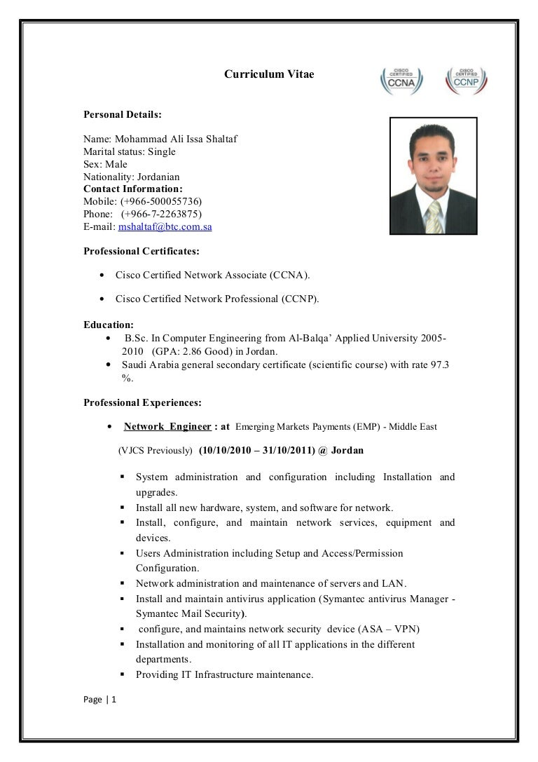 network engineer resume sample. cisco voip engineer sample resume ...