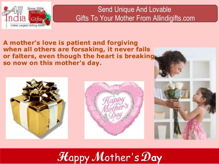 Mothers Day Gifts To India,Buy Mother's Day Gifts,Online ...