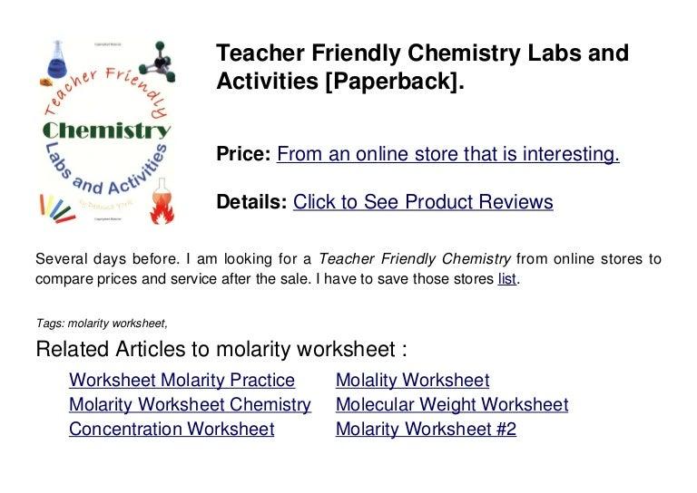 Printables Molarity Worksheet molarity worksheet