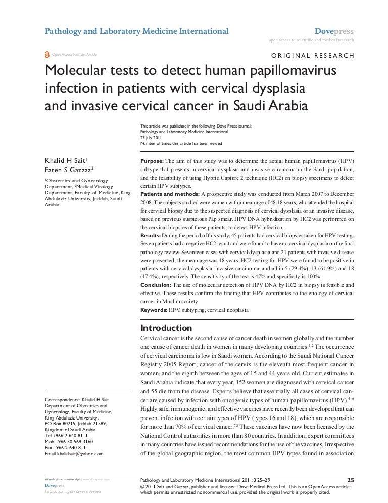 detection de papillomavirus)