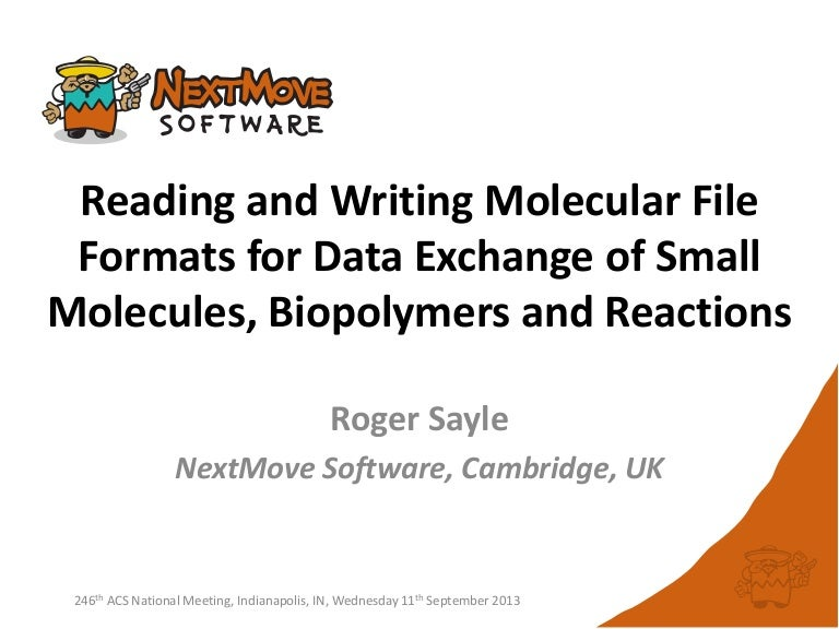 Reading and Writing Molecular File Formats for Data Exchange